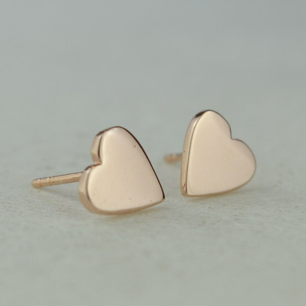 Our Gold Heart Studs Are Perfect For Any Age And