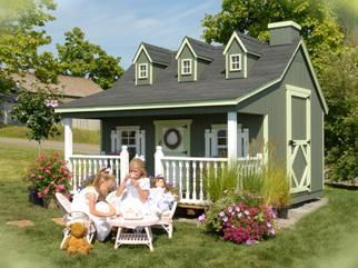 Amish Handcrafted Pennfield Cottage Playhouse