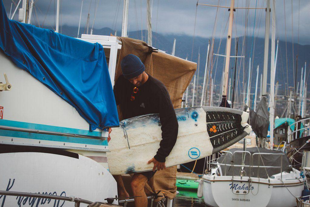 Harbor life in santa barbara surfing santa barbara boat