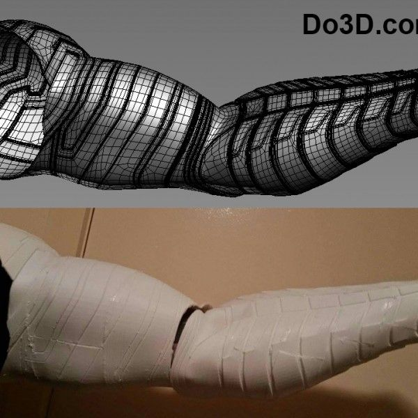 3D Printable Model of Winter Soldier Bucky Arm from Captain