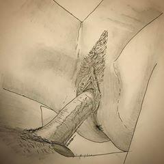 Sketch naked girl penetrate