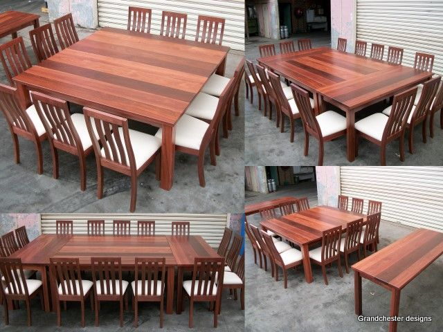 Square Dining Table With Side Tables To Extend The Size Can Be Used As A Buffet Or Couch Until Needed Could