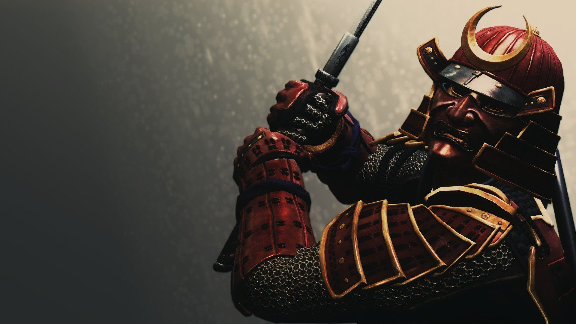 Samurai Armour Helmet Background Rendering Hd Wallpaper In
