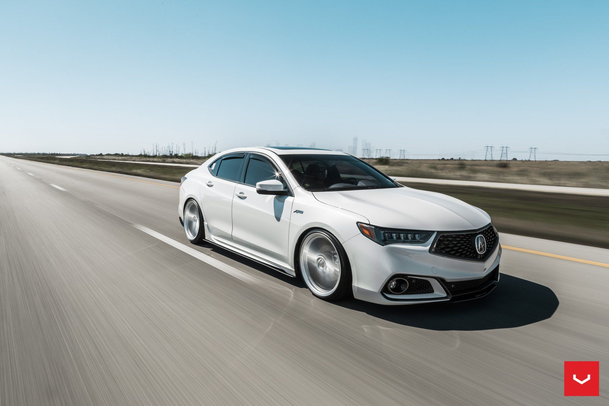 Automotive Eye Candy White Acura Tlx Gets Custom Mesh Grille In 2020 Acura Tlx Acura Automotive