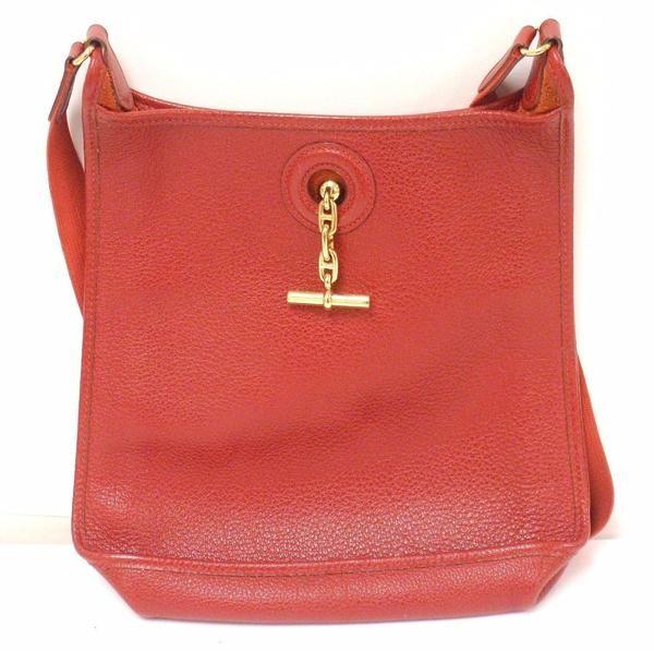 30a58242310d AUTHENTIC! Hermes Vespa PM Red Vache Liegee Leather Shoulder Bag ...