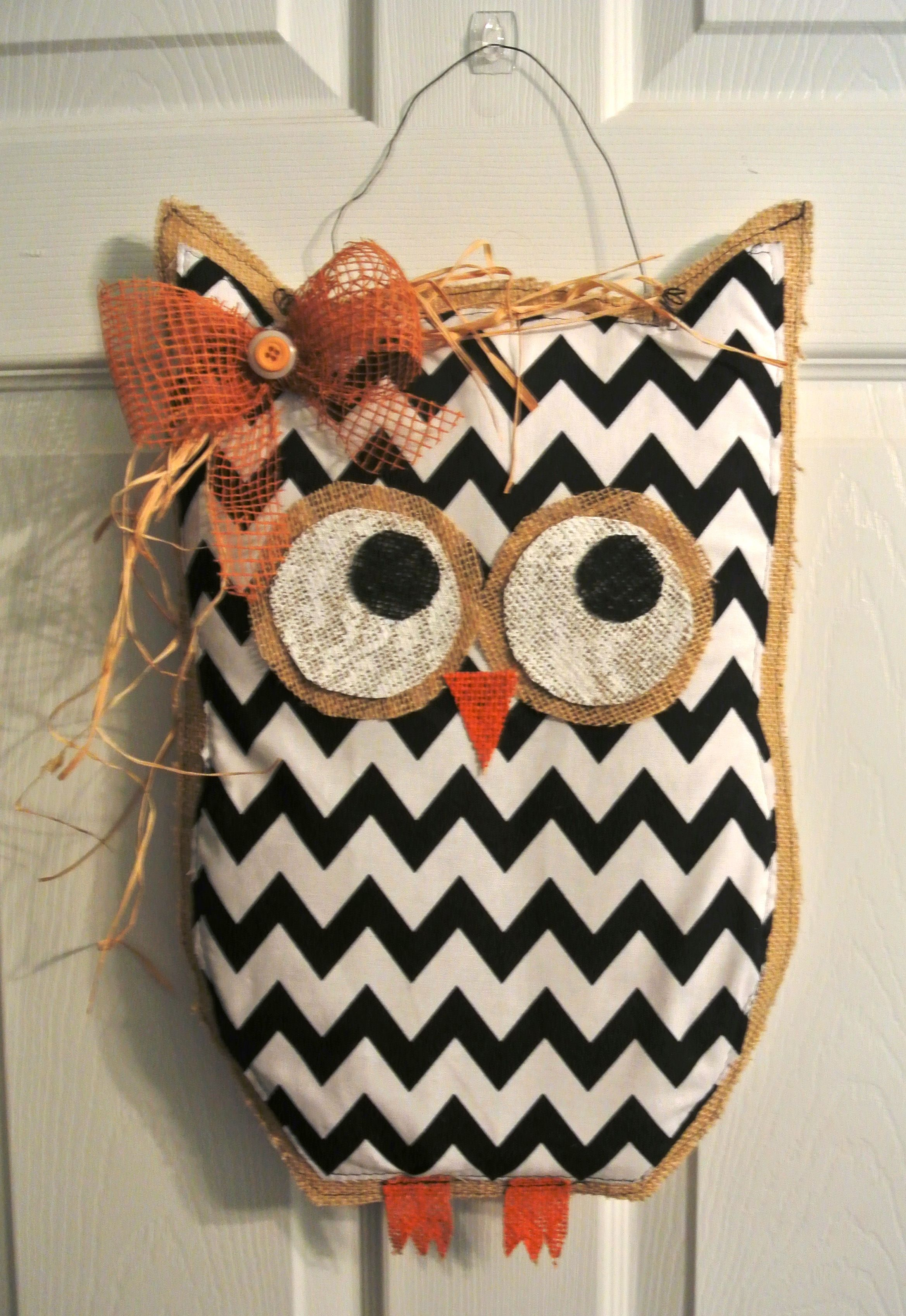 Burlap Owl #3.