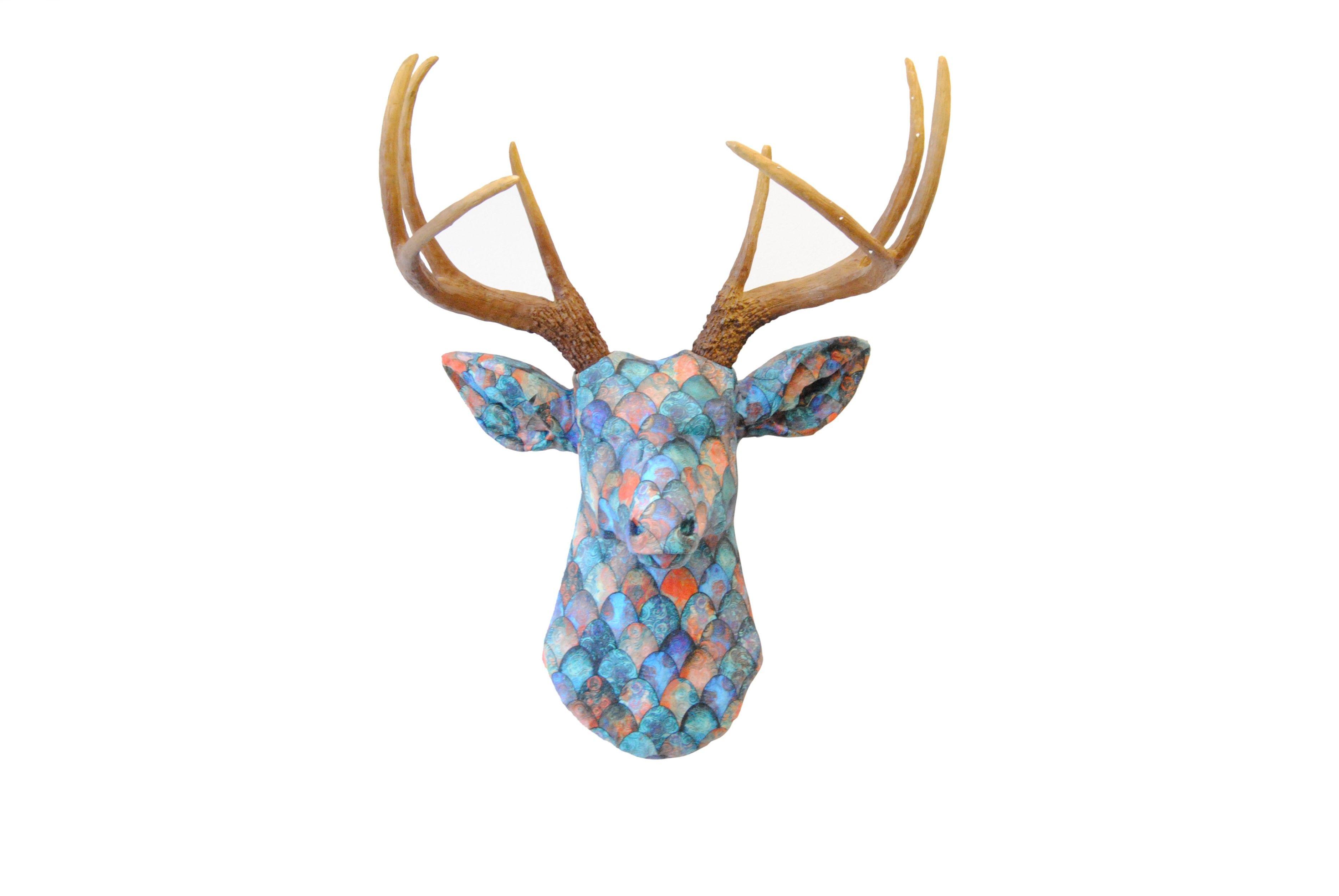 Dragon Scale Fabric Deer Head