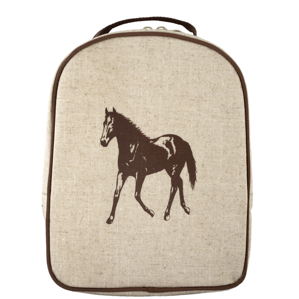 Brown Horse Matching Lunch Box to Toddler Backpack - SoYoung - eco-friendly  bags and accessories for the modern family - designed in Canada dc9bc6a649b35