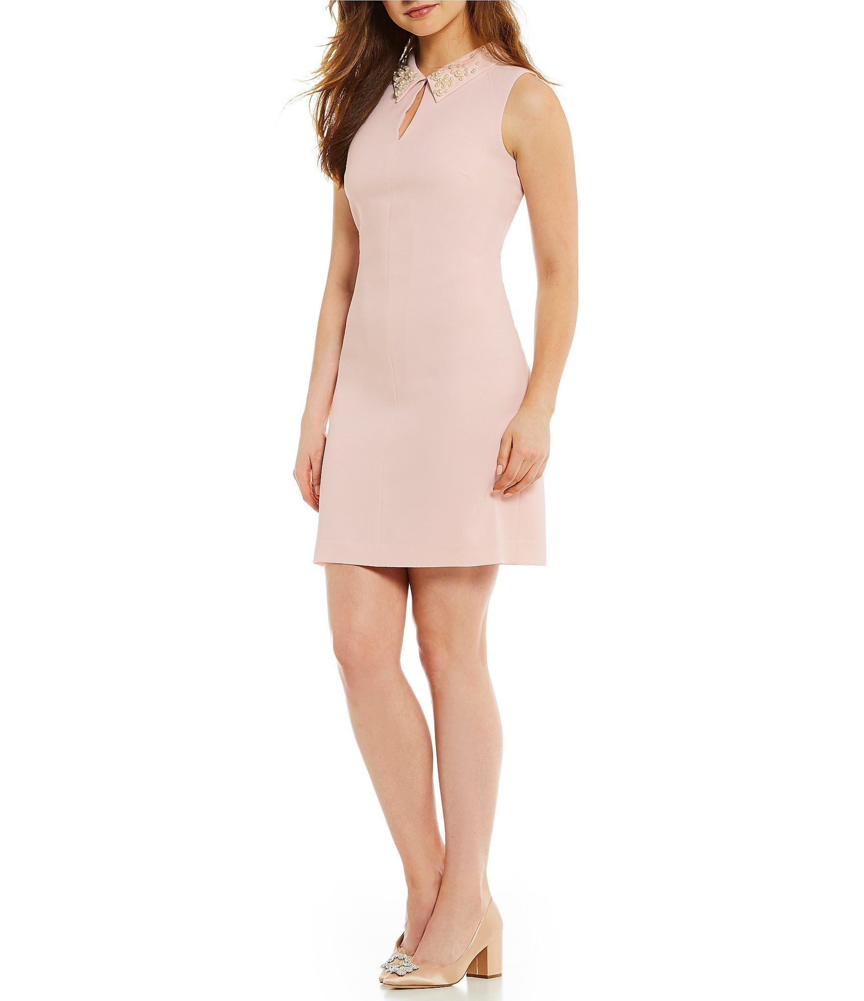 4993d0ebce0 Shop for KARL LAGERFELD PARIS Pearl Collar Sheath Dress at Dillards.com.  Visit Dillards.com to find clothing