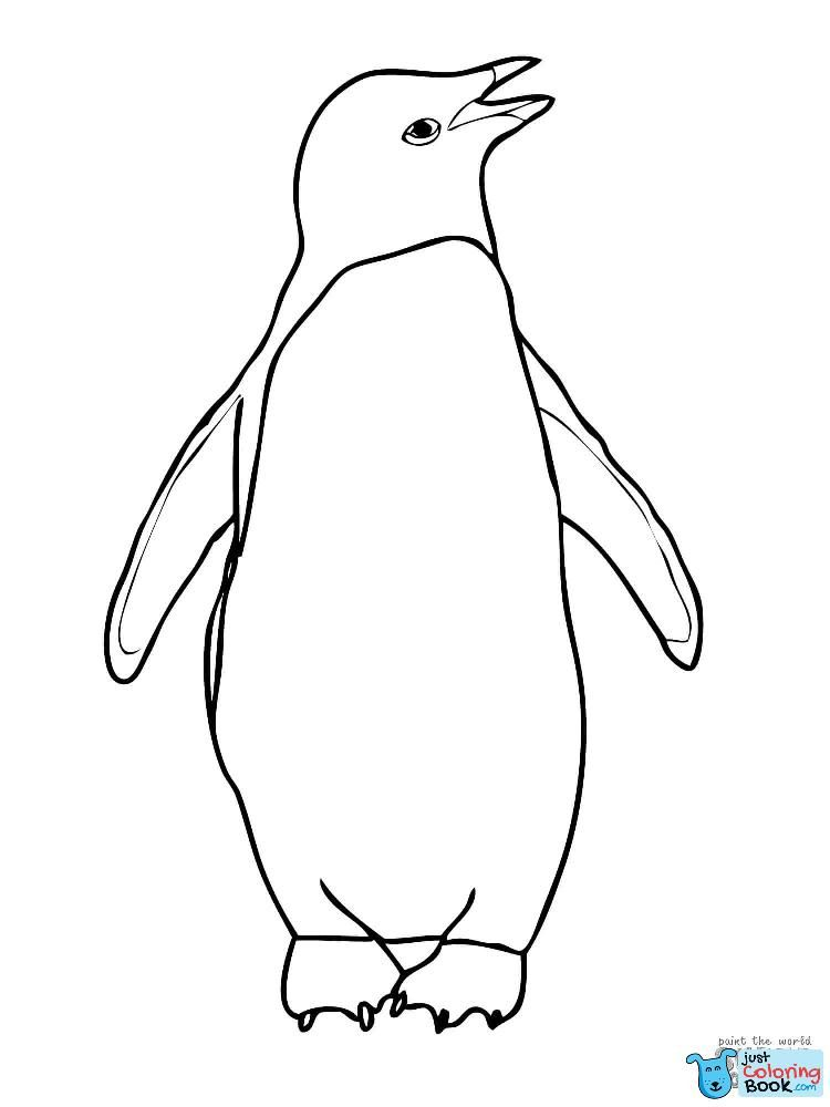 Adelie Penguin Coloring Page Free Printable Coloring Pages Inside Three Adelie Penguins Coloring Pages