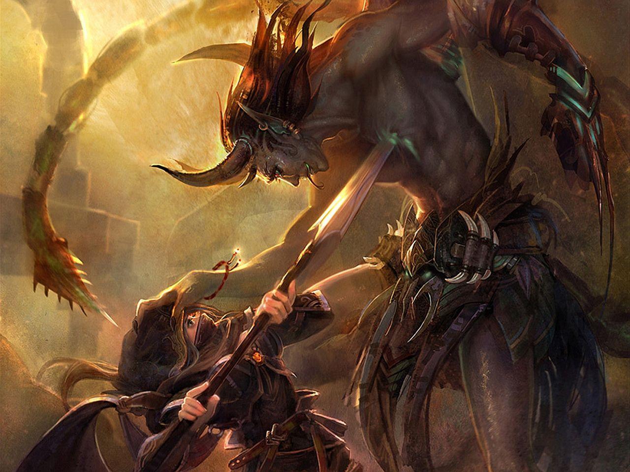картинки с воинами демонами