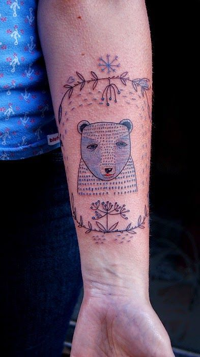 Cute Bear Tattoo