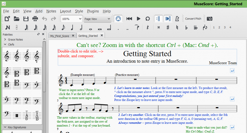 MuseScore - Getting Started Best free music notation