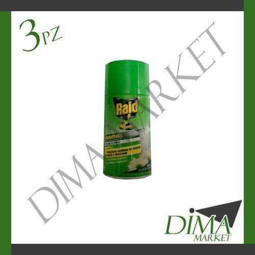 3 PEZZI RAID AUTOMATIC SPRAY RICARICA 3X300ML
