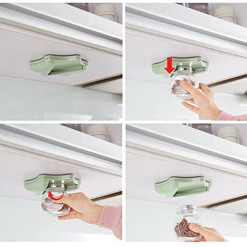 Single Hand Jar Opener Under Kitchen Cabinet Counter For