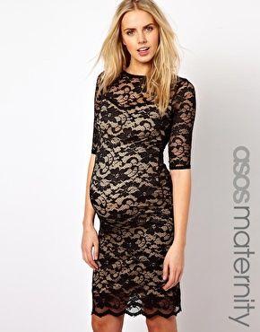 Cute lace maternity dress