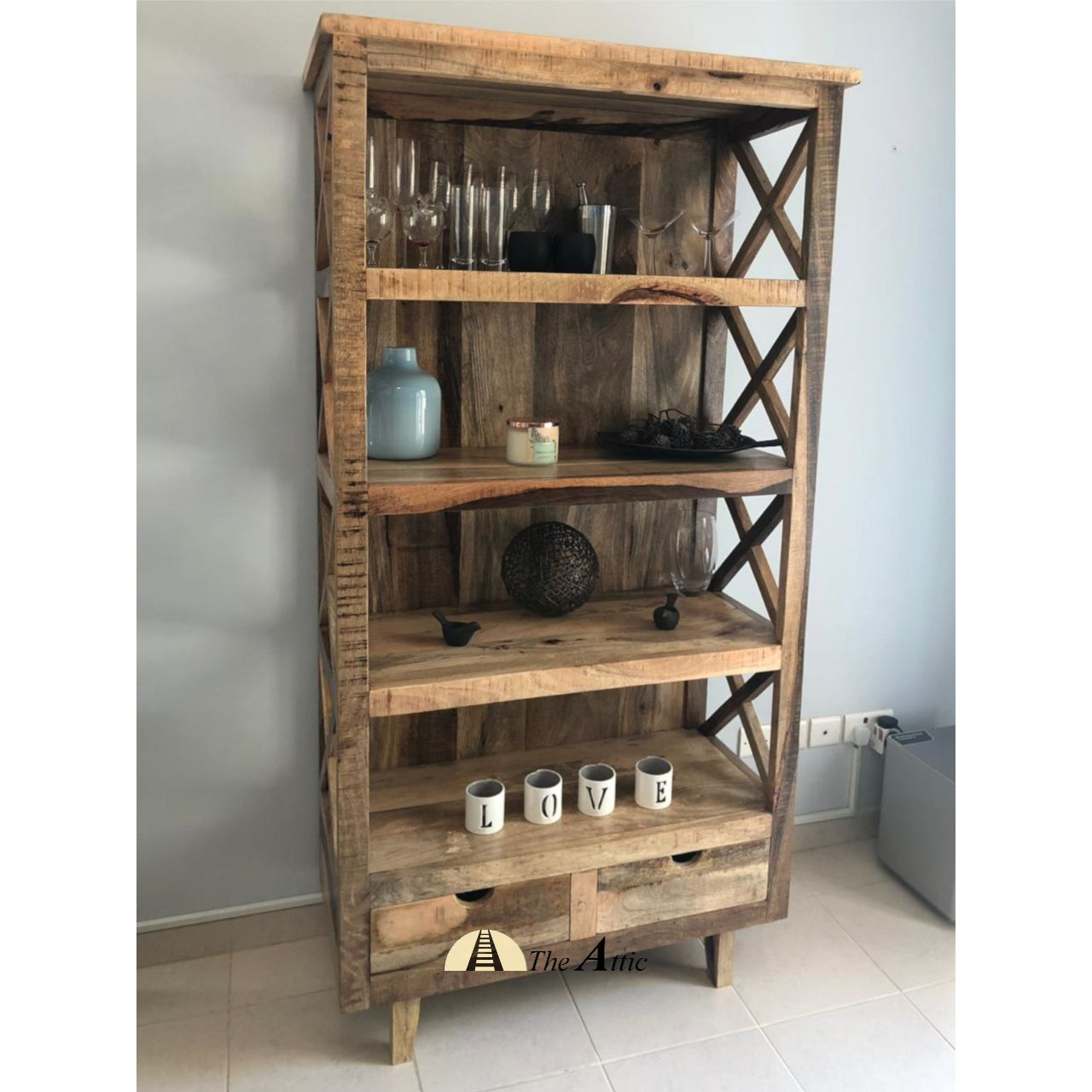 Rustic Modern Solid Mango Wood Bookshelf With A Smooth Highly Polished Finish That Highlights The Natural Wood Gr Shelves Wood Bookshelves Solid Wood Furniture