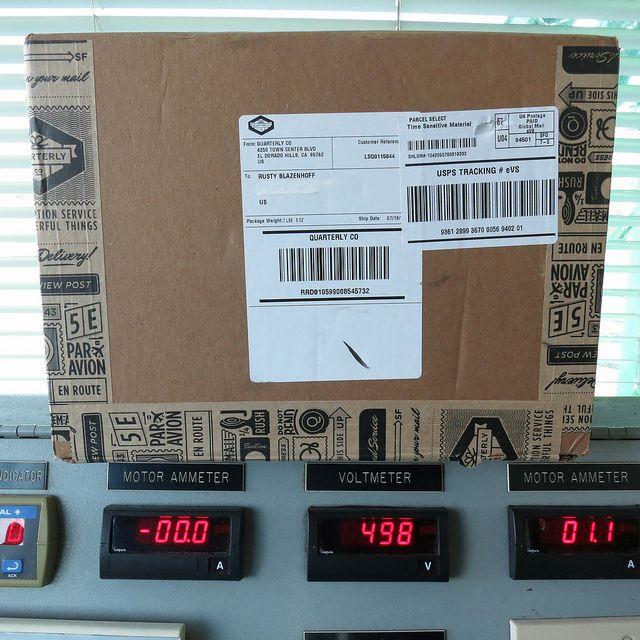 Quarterly Box Lsq01 Has Shipped Ship Laughing Squid Box