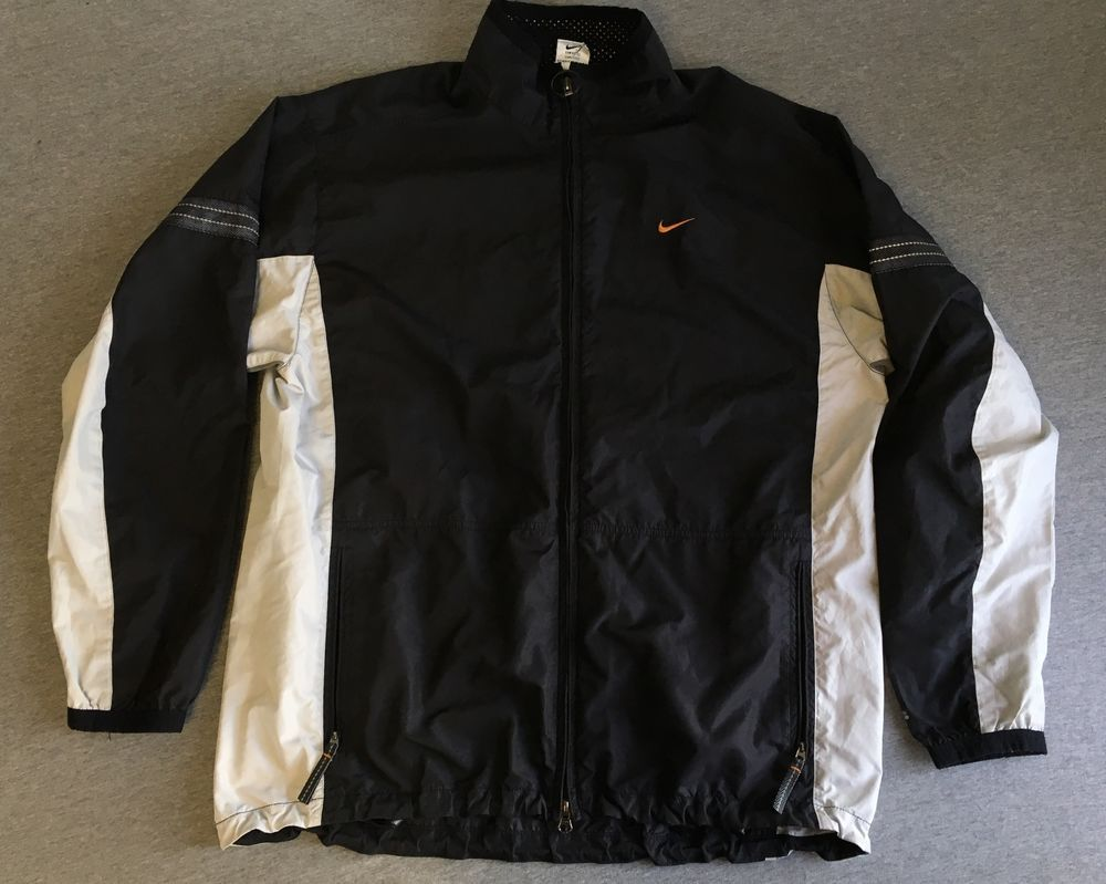 03de7a3dc42e NIKE WINDBREAKER 90s Vtg Nylon Jacket Nike Fit Full Zip Warm Up Black Men  Large  Nike  WarmUp. Find this Pin and more ...