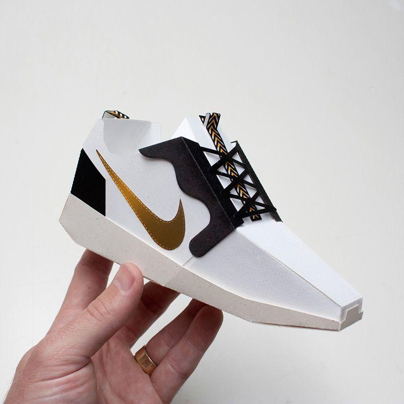 Paper shoes, Shoe template