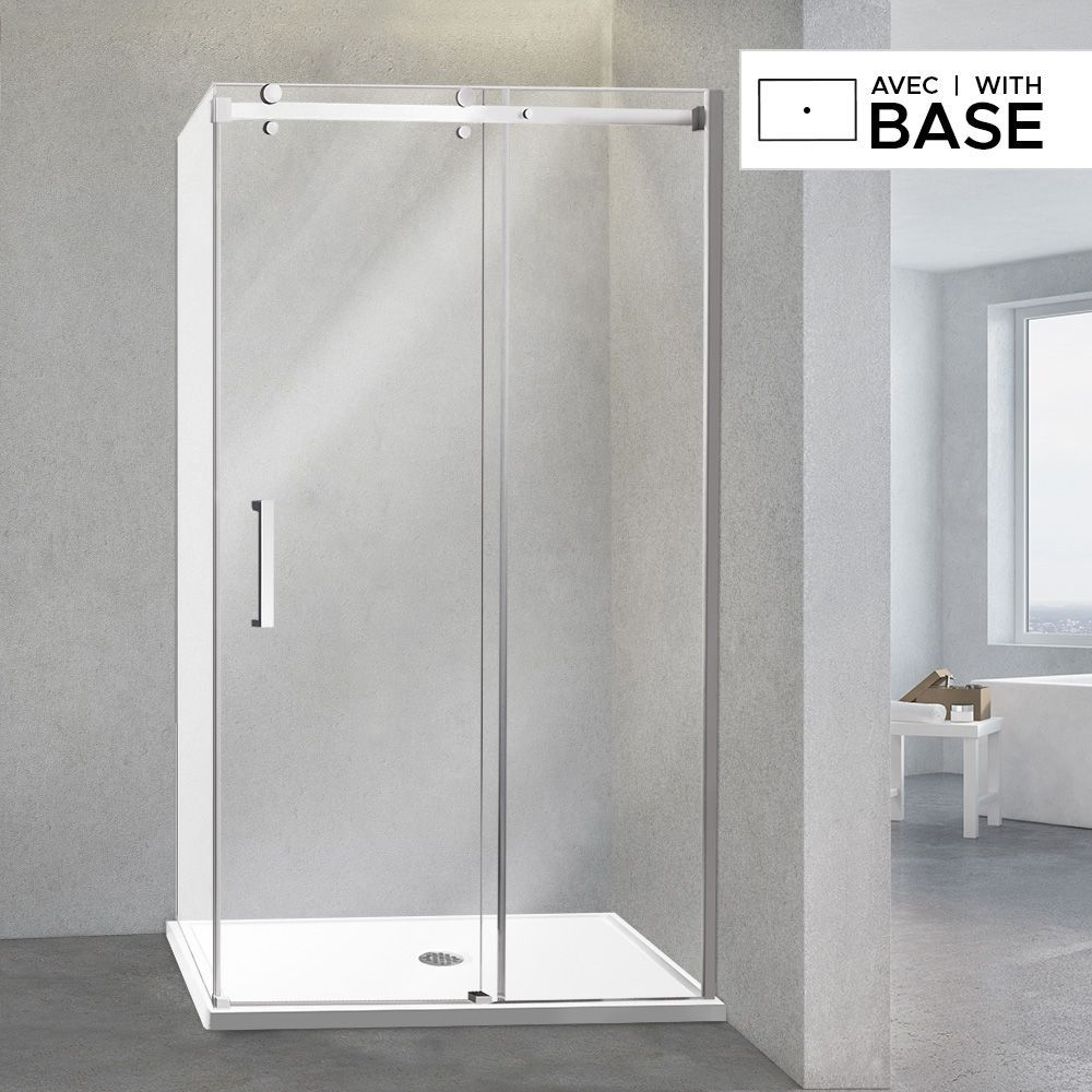 48 X 32 Shower Kit With Door And Right Side Corner Base With