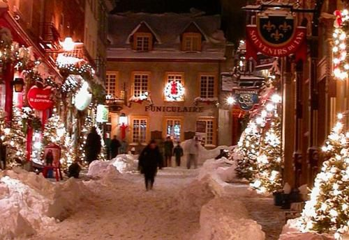 Winters Night Quebec City Canada Christmas Lights Canada Christmas Christmas In The City