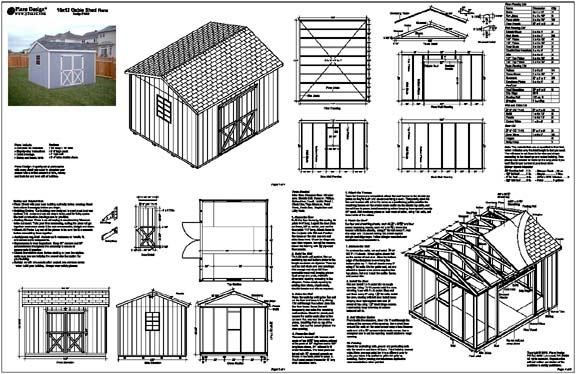 Storage Shed Plans 10x12 Plans Detail Shed Plans Free Shed