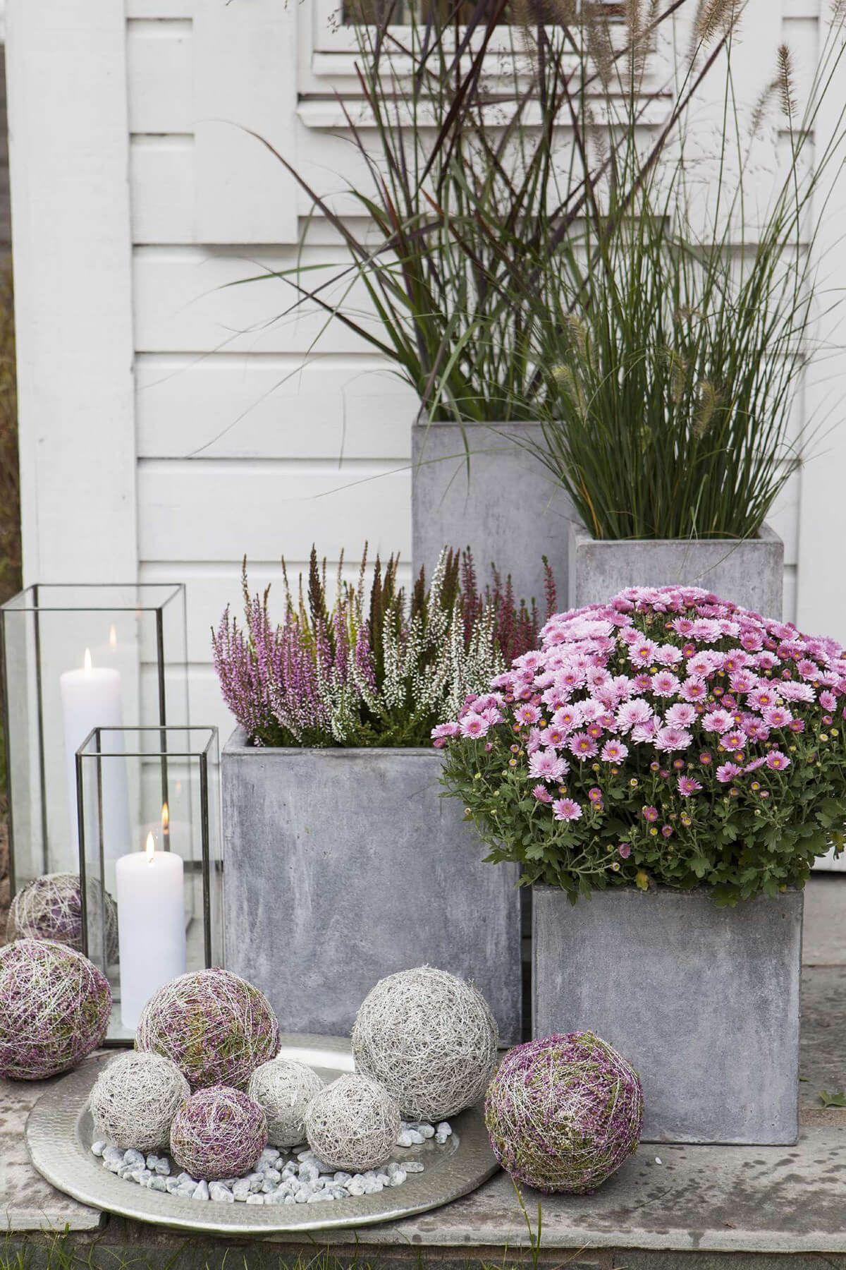 55 Summer Porch Decor Ideas To Inspire You This Season Flower Pots Fall Patio Large Planters