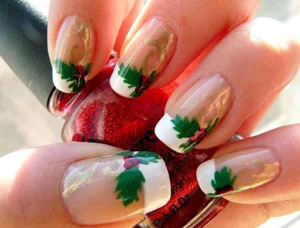 27 Christmas Nail Design Beauty Pinterest Manicure Make Up