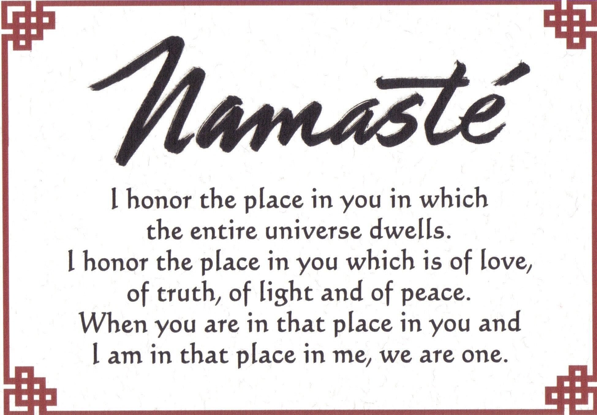 Namaste All the pieces of me symbols spiritual