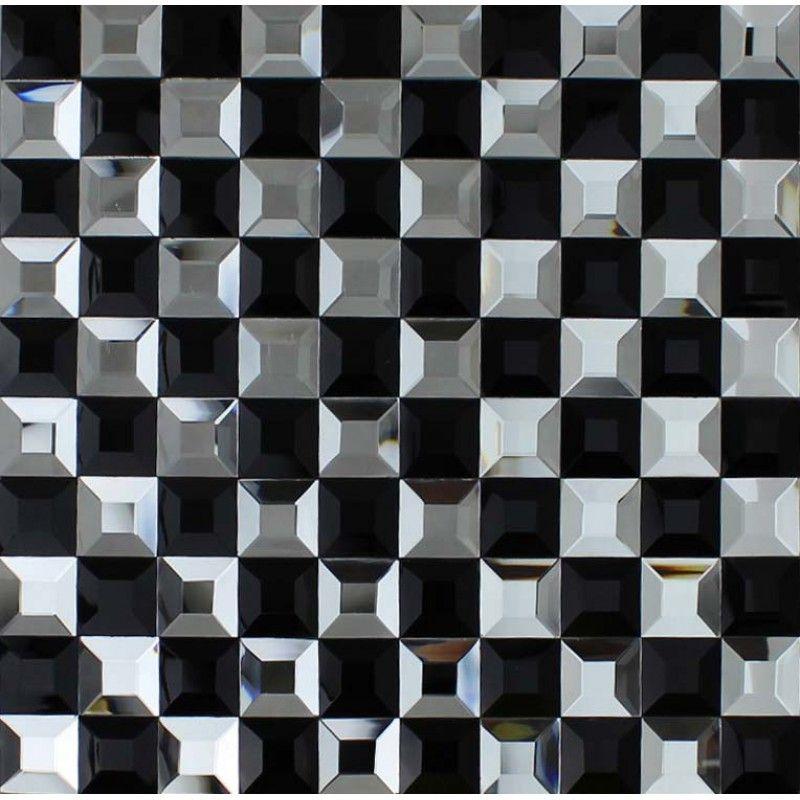 Black And White Mosaic Bathroom Floor Tiles Pyramid 3d Glass Patterns Kitchen Bar Table Bravotti C Mosaic Tile Bathroom Floor Mosaic Glass Glass Mosaic Tiles