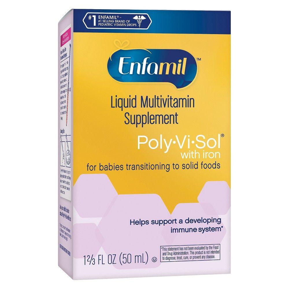 Enfamil Poly Vi Sol Multivitamin Dietary Supplement Drops 1 69oz Multivitamin Liquid Multivitamin