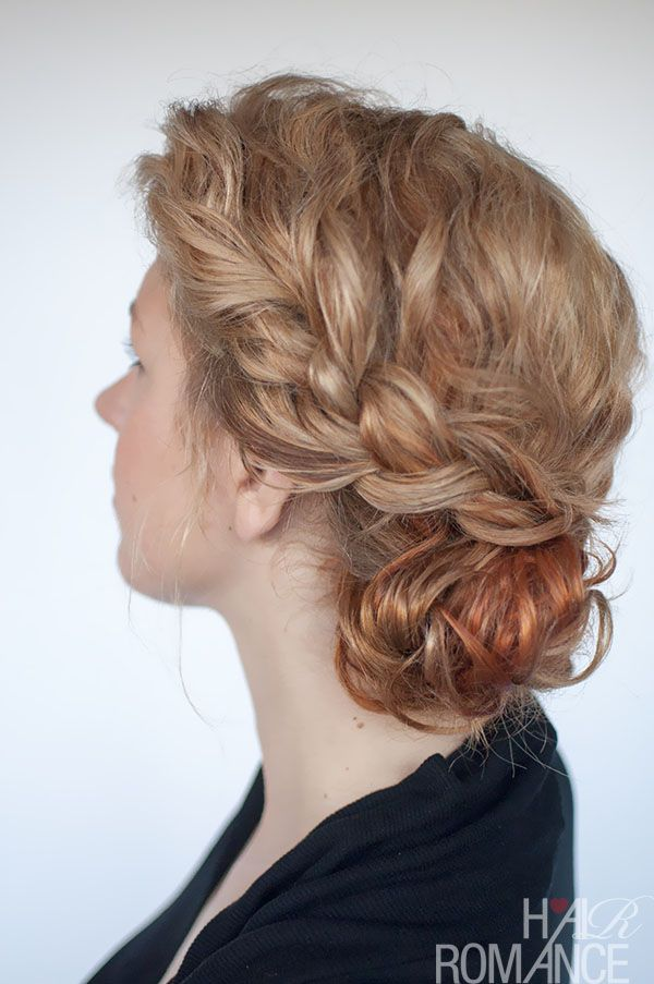 Curly Bun Hairstyle Tutorial Two Ways Hair Romance Curly Hair