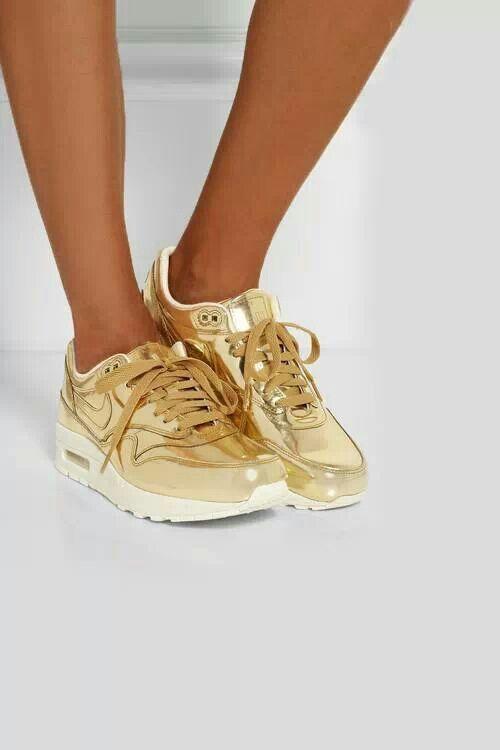 zapatillas nike mujer air dorado