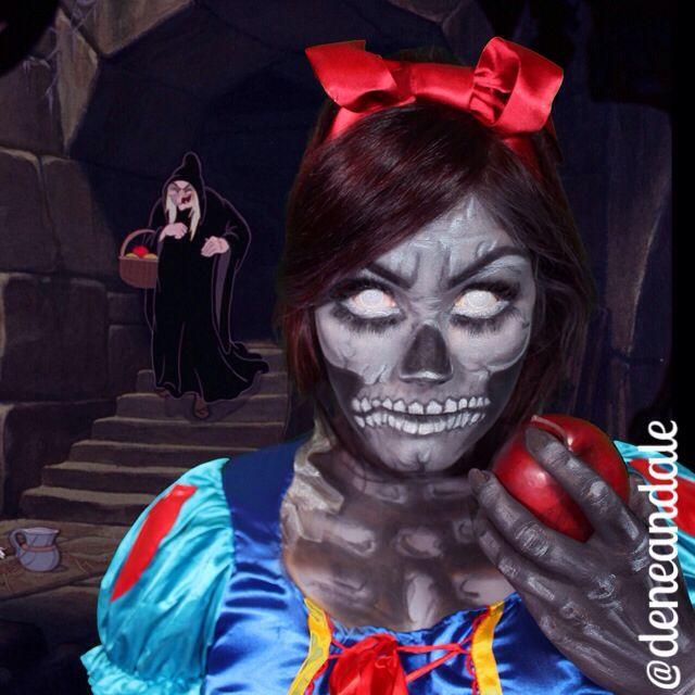 Creepy Snow White makeup I did!   Halloween makeup   Pinterest ...
