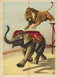 Printable Lion and Elephant