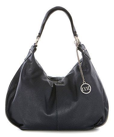 This Navy Slouchy Leather Hobo is perfect! #zulilyfinds