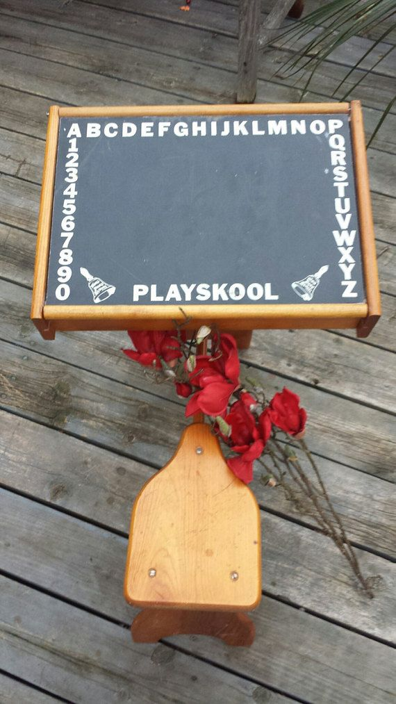Vintage Antique Playskool Wood Educational Toy Childs