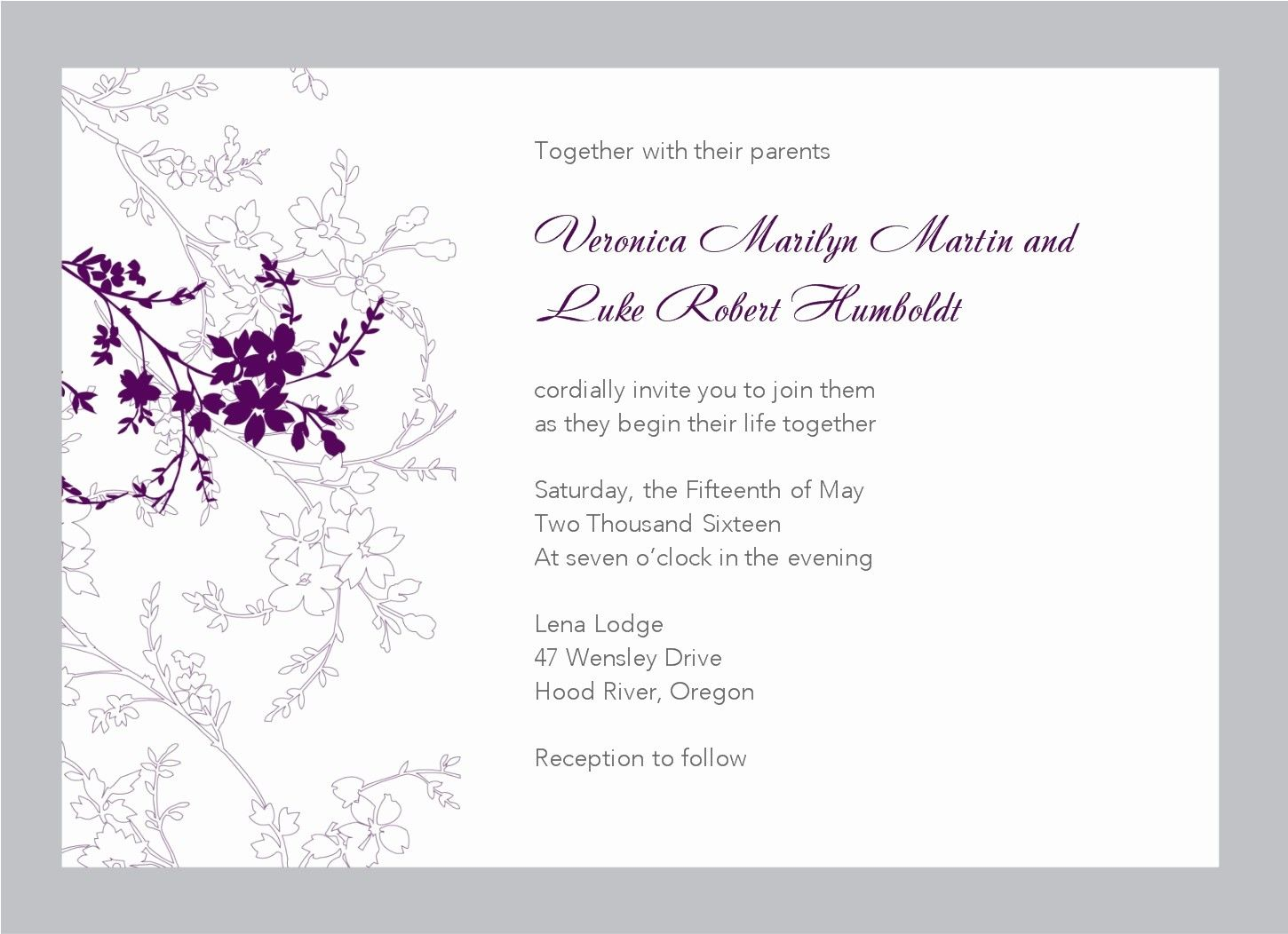 Free Wedding Invitation Templates for Word  Wedding invitations