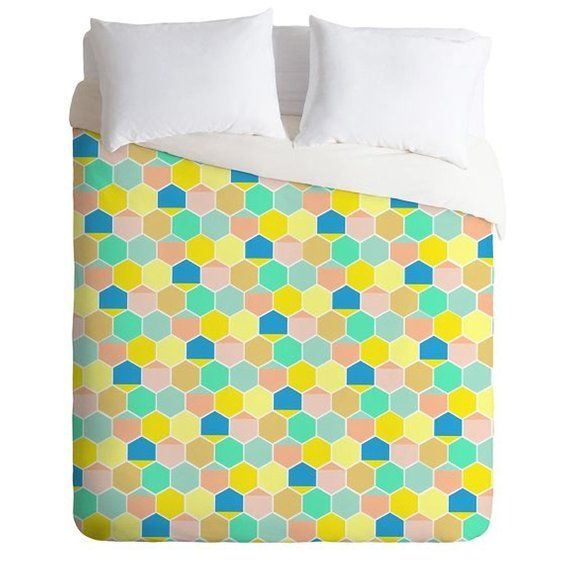 Pastel Color Bee Hive Twin Queen King Duvet Cover, Guest Bedroom Housewarming Gift Unique Home Decor is part of Unique Home Accessories Apartments - reviews+ + + + + + + + + + + + + + + + + + + + + + + + + + + + + + + + + + + + + + + + + +