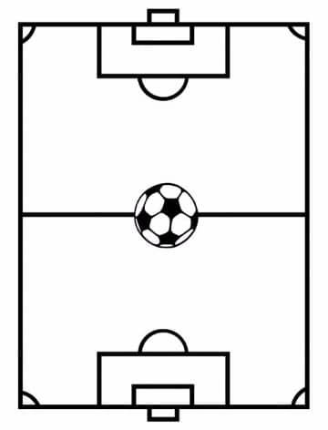imagenes de un campo de futbol para colorear | Dibujos del medio ...