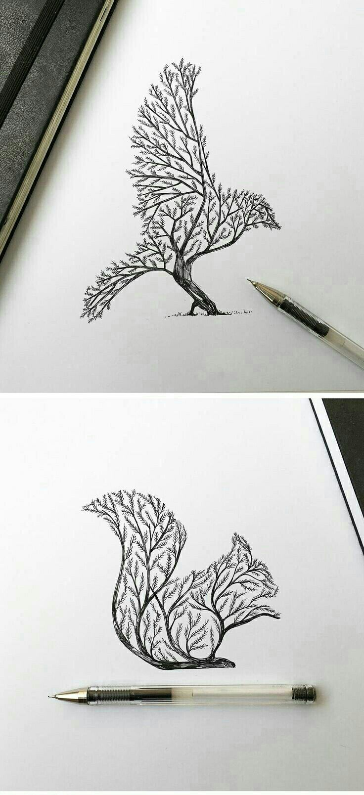 Tükenmez kalem art cute drawings really cool drawings pencil drawings nature drawing