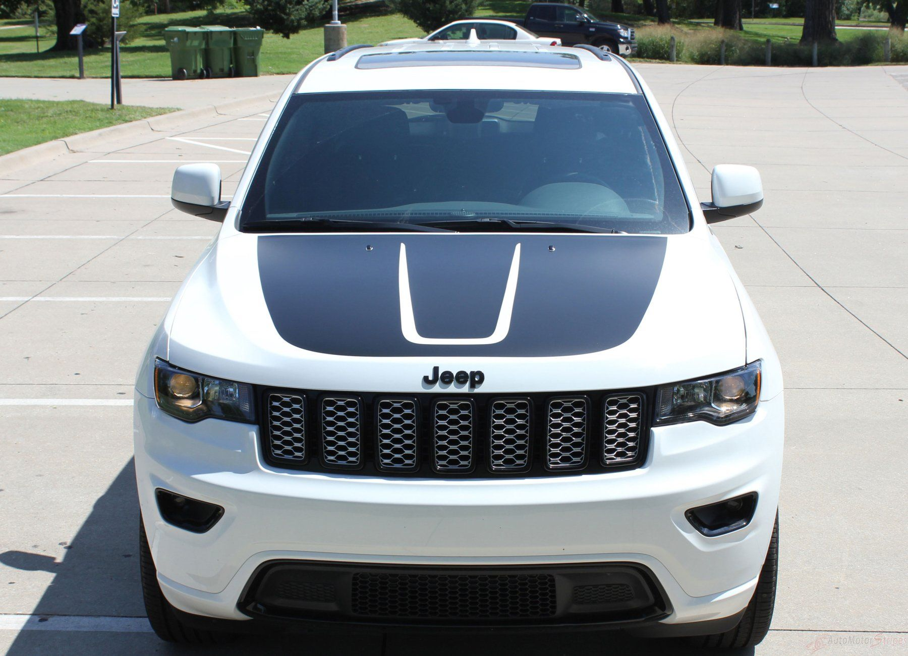 2011 2020 Jeep Grand Cherokee Trailhawk Hood Decal Trail Center Blackout Vinyl Graphic Stripes Jeep Grand Cherokee Jeep Grand Grand Cherokee Trailhawk