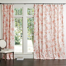 Jardin Toile Bedding Drapery Panels Toile Curtains Coral Home