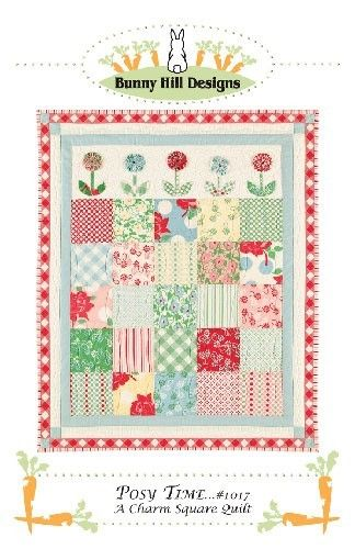POSY TIME CHARM QUILT PATTERN FROM BUNNY HILL DESIGNS   bunny hill ... : bunny hill quilt patterns - Adamdwight.com