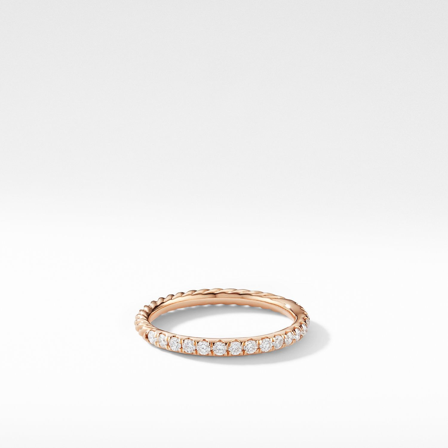 Cable Collectibles Cable Stack Ring In 18k Rose Gold David Yurman In 2020 Rose Gold 18k Rose Gold Rings