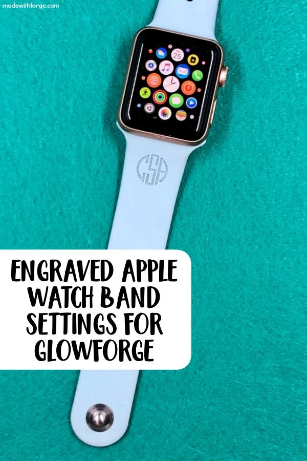 Tutorial Engraved Apple Watch Band Settings for