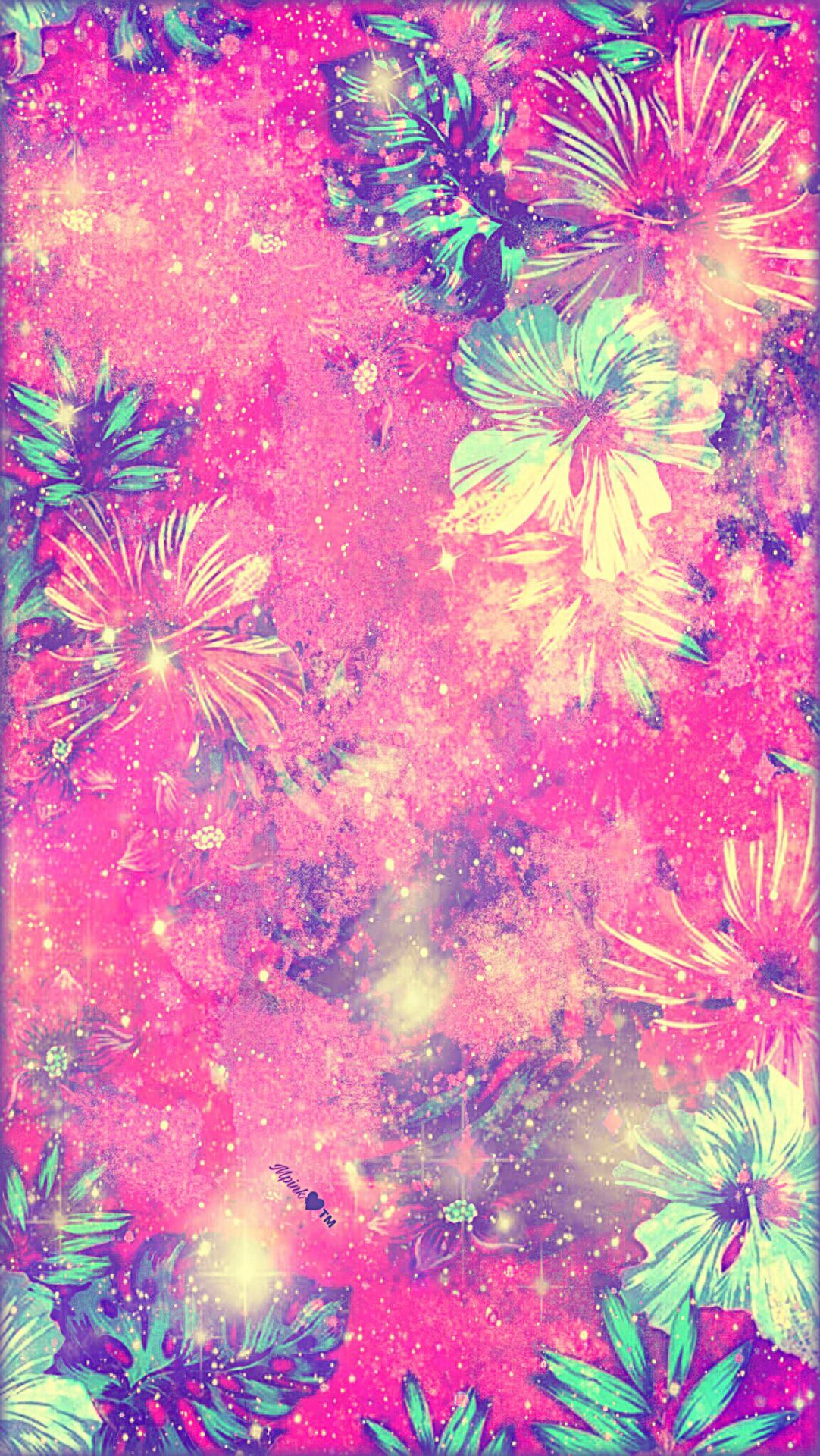 Tropical Flowers Galaxy Wallpaper androidwallpaper