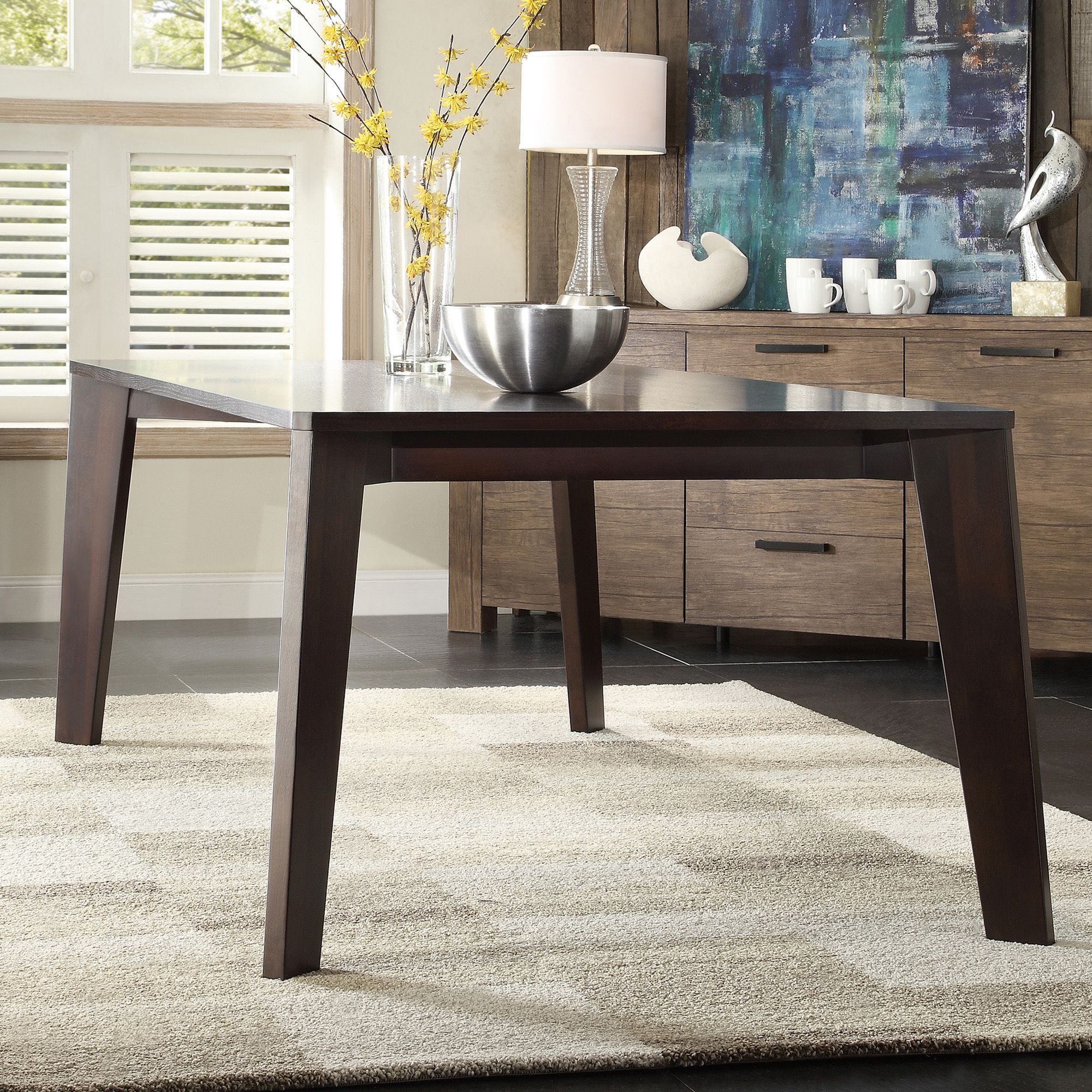 INSPIRE Q Sasha Mid-century Modern Brown Angled Leg Dining Table -  Overstock Shopping -