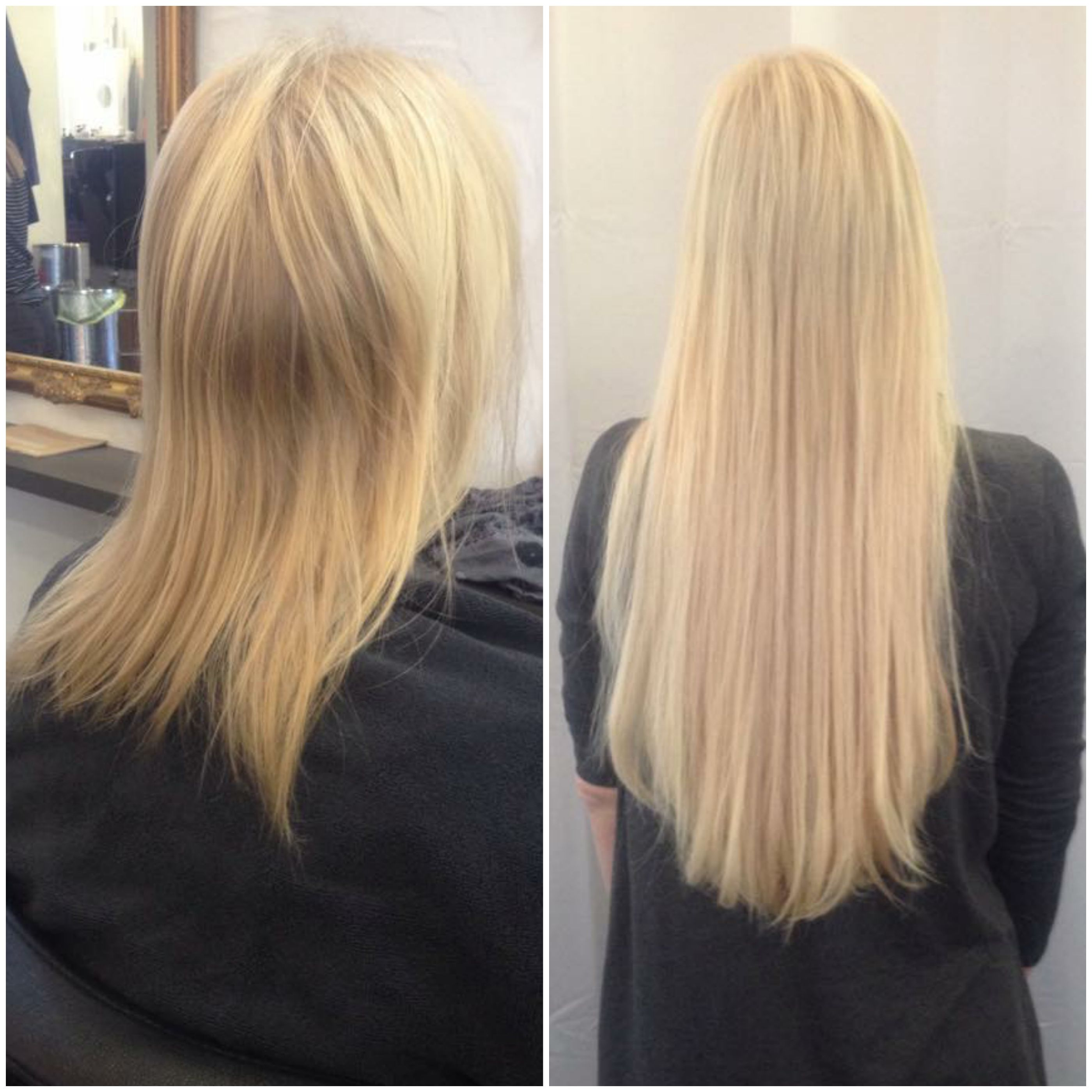 Vorhernachher Blonde Extensions Mit Great Lengths